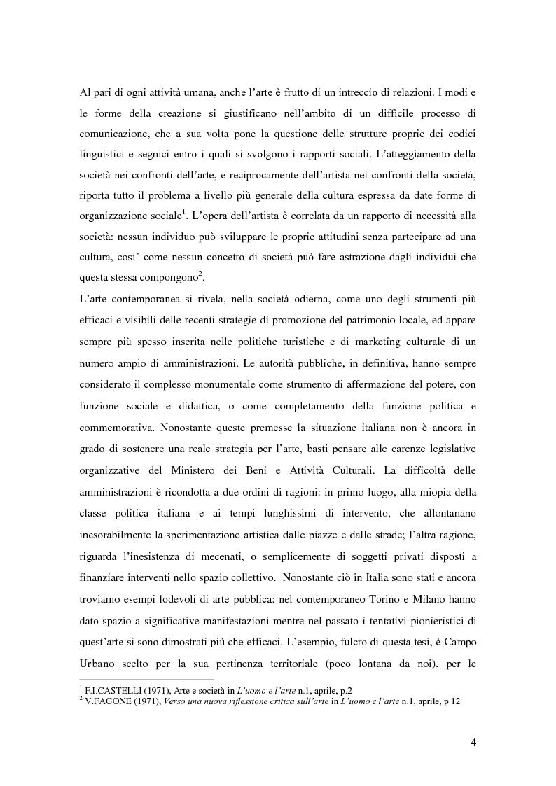 Anteprima della tesi: Arte pubblica, intorno a Campo Urbano, Pagina 4