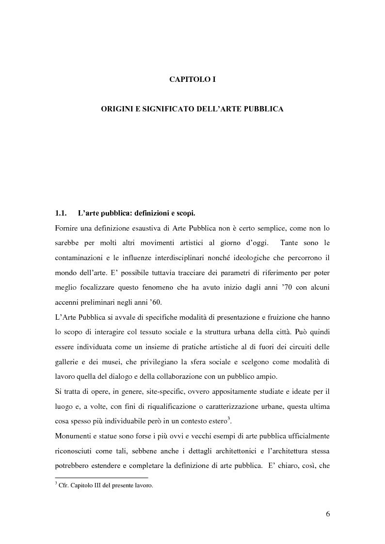 Anteprima della tesi: Arte pubblica, intorno a Campo Urbano, Pagina 6