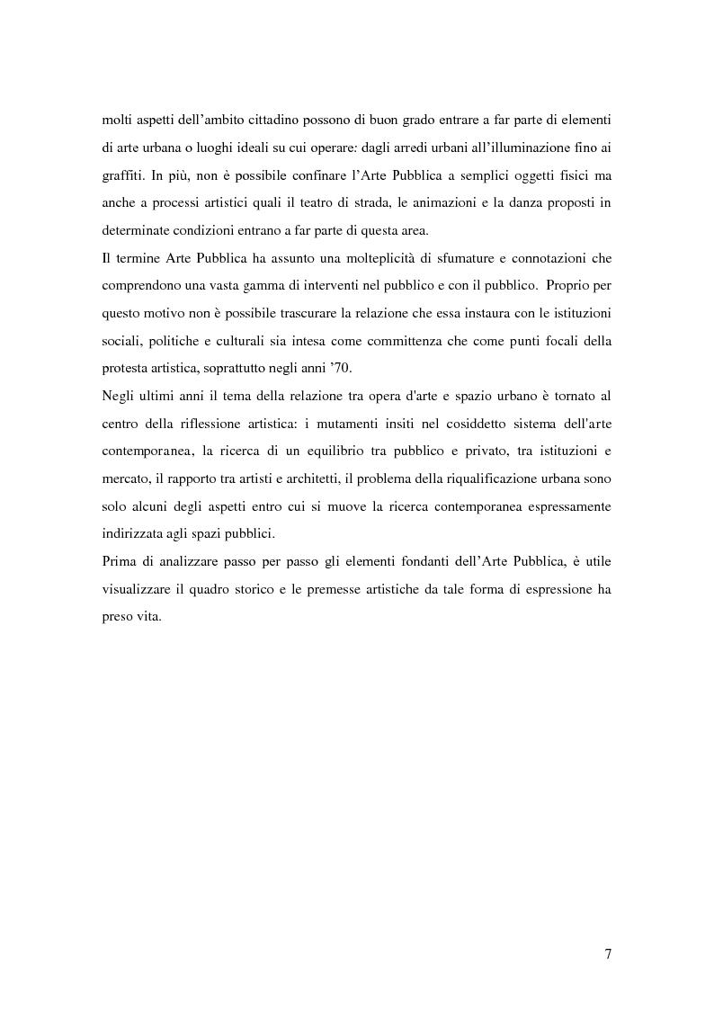 Anteprima della tesi: Arte pubblica, intorno a Campo Urbano, Pagina 7