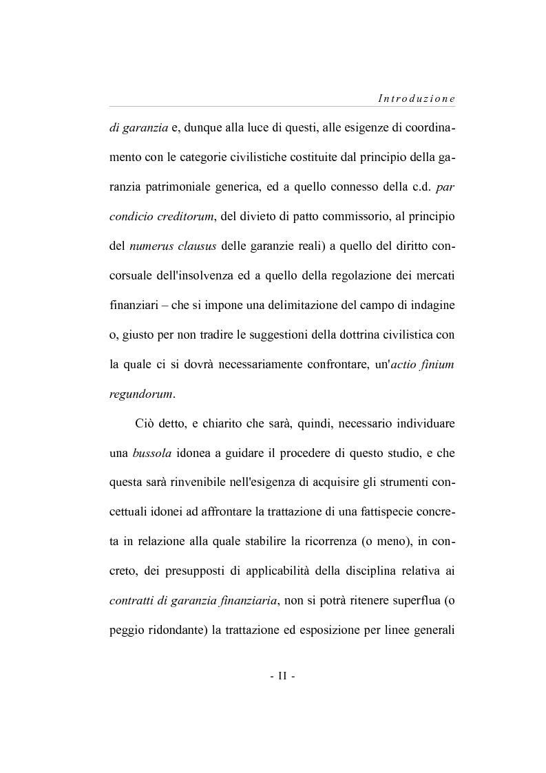 Anteprima della tesi: I contratti  di garanzia finanzaria - Riflessioni su una concreta ipotesi applicativa, Pagina 3