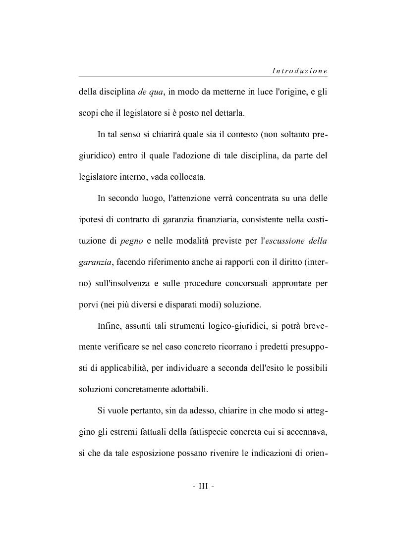 Anteprima della tesi: I contratti  di garanzia finanzaria - Riflessioni su una concreta ipotesi applicativa, Pagina 4