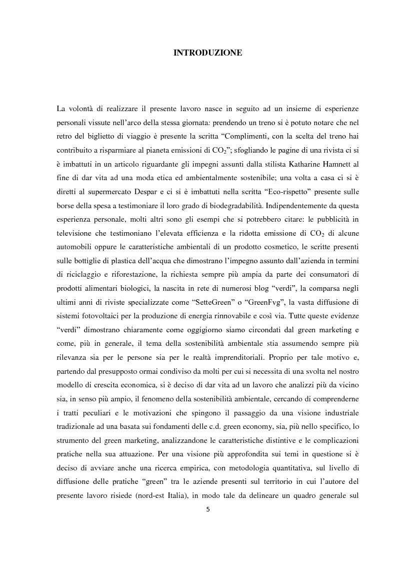 """Anteprima della tesi: Tra green economy e blue economy: analisi teorica ed empirica sulla diffusione del green marketing e delle pratiche """"verdi"""" in generale, Pagina 2"""