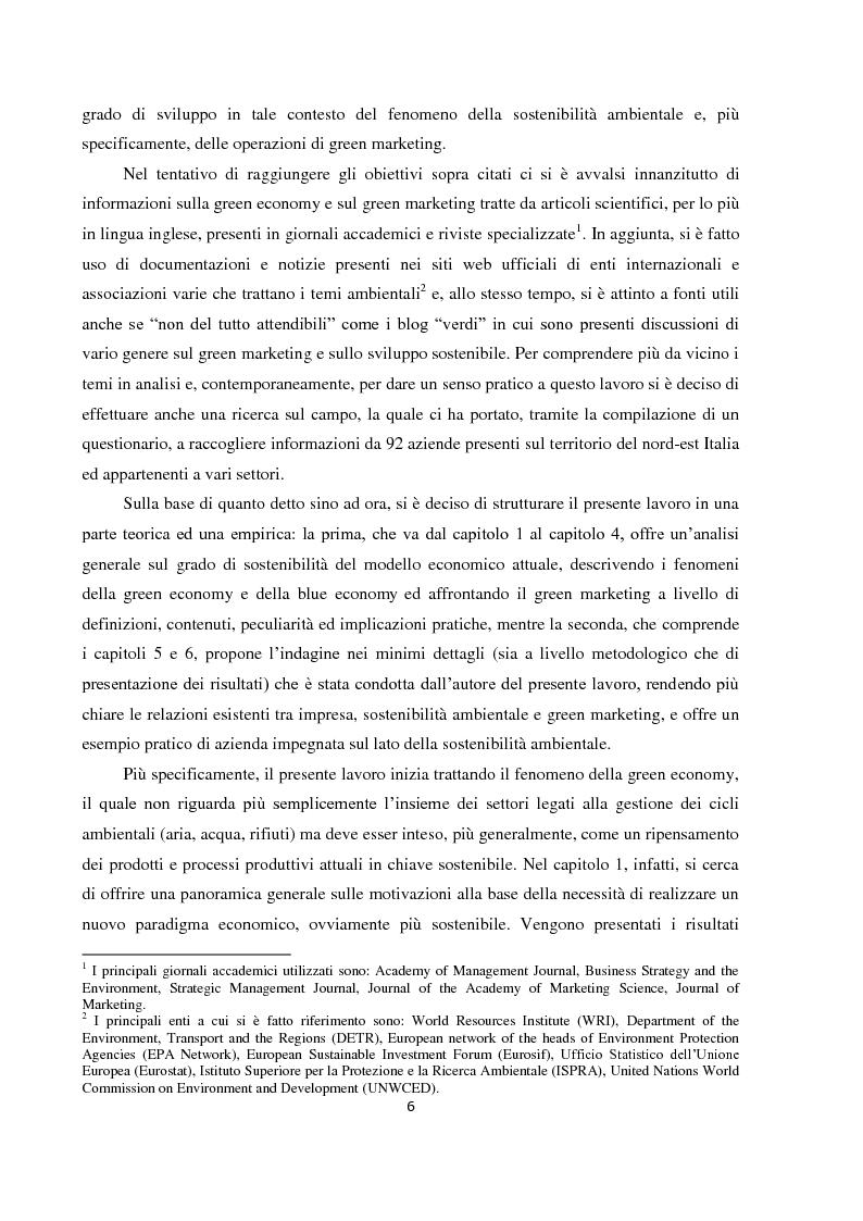 """Anteprima della tesi: Tra green economy e blue economy: analisi teorica ed empirica sulla diffusione del green marketing e delle pratiche """"verdi"""" in generale, Pagina 3"""