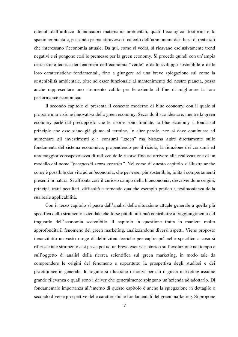 """Anteprima della tesi: Tra green economy e blue economy: analisi teorica ed empirica sulla diffusione del green marketing e delle pratiche """"verdi"""" in generale, Pagina 4"""