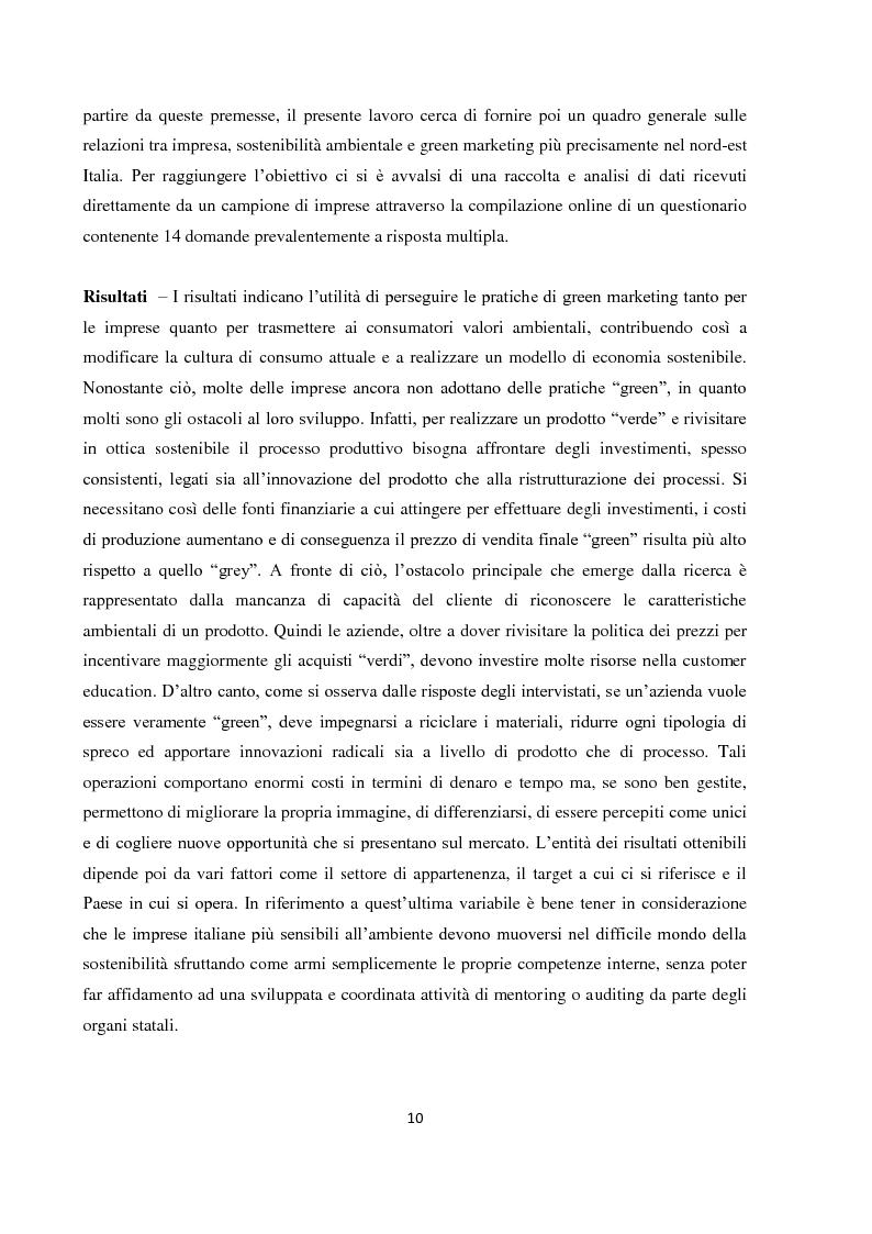 """Anteprima della tesi: Tra green economy e blue economy: analisi teorica ed empirica sulla diffusione del green marketing e delle pratiche """"verdi"""" in generale, Pagina 7"""