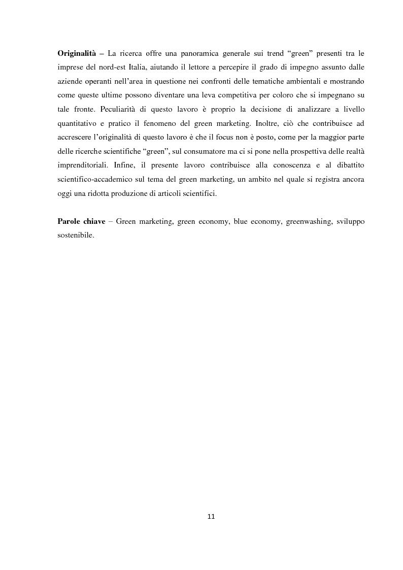 """Anteprima della tesi: Tra green economy e blue economy: analisi teorica ed empirica sulla diffusione del green marketing e delle pratiche """"verdi"""" in generale, Pagina 8"""