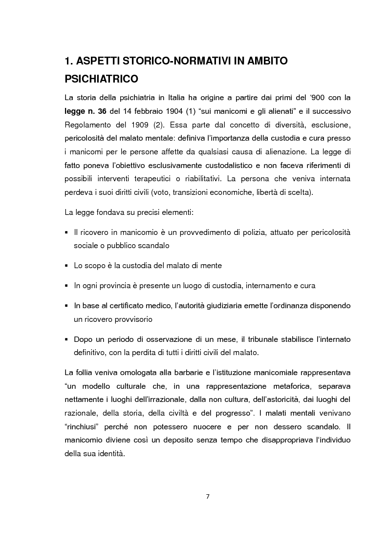 Anteprima della tesi: Implementazione della visita domiciliare come strumento di cura per il paziente psichiatrico, Pagina 2