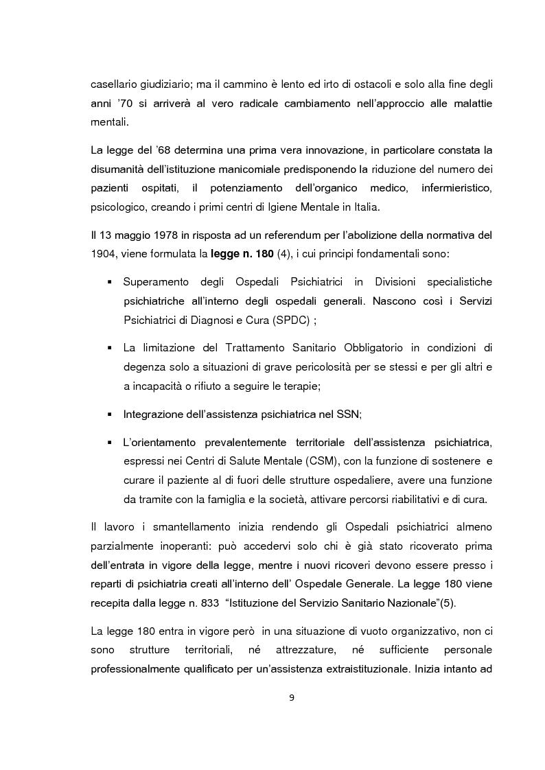 Anteprima della tesi: Implementazione della visita domiciliare come strumento di cura per il paziente psichiatrico, Pagina 4