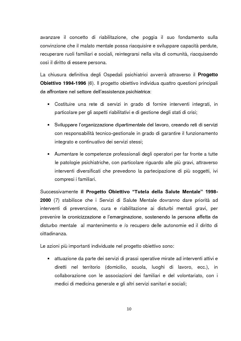 Anteprima della tesi: Implementazione della visita domiciliare come strumento di cura per il paziente psichiatrico, Pagina 5