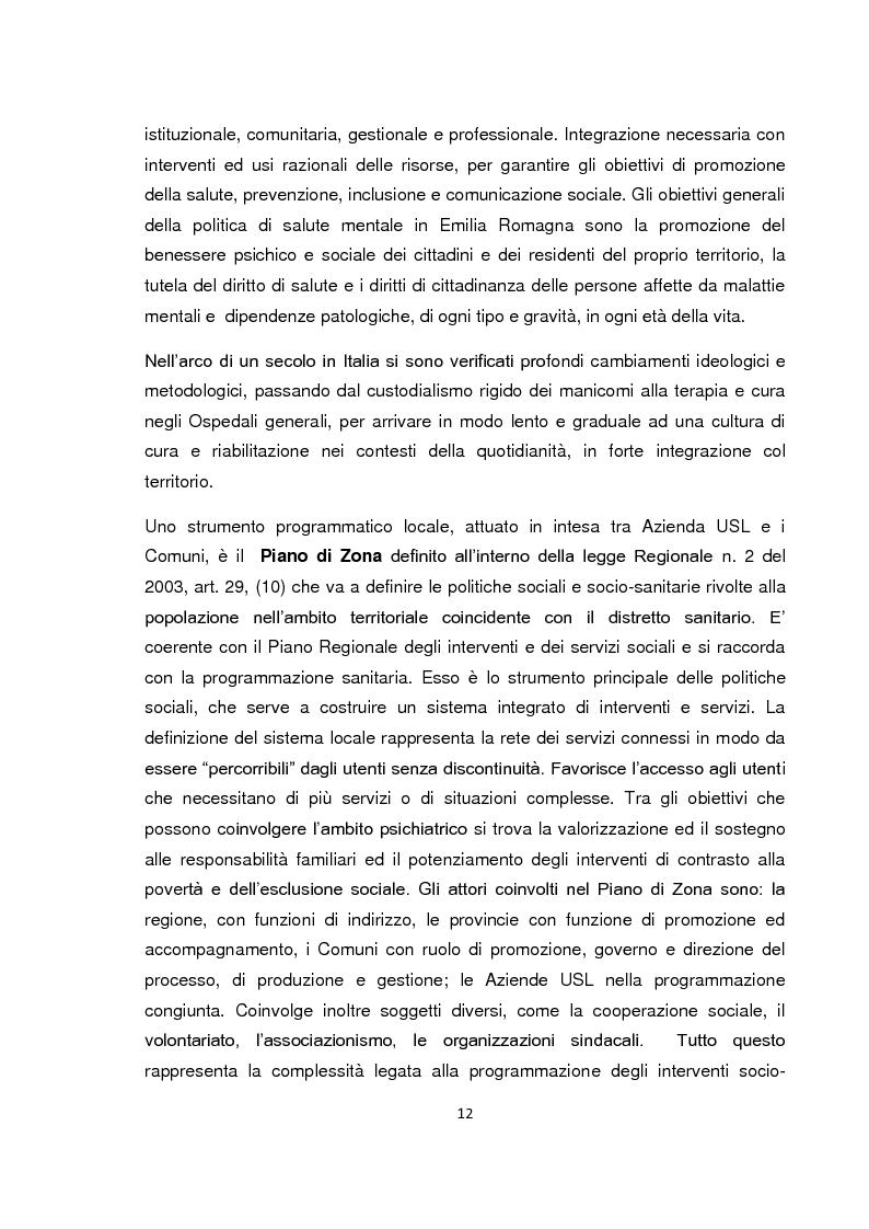 Anteprima della tesi: Implementazione della visita domiciliare come strumento di cura per il paziente psichiatrico, Pagina 7