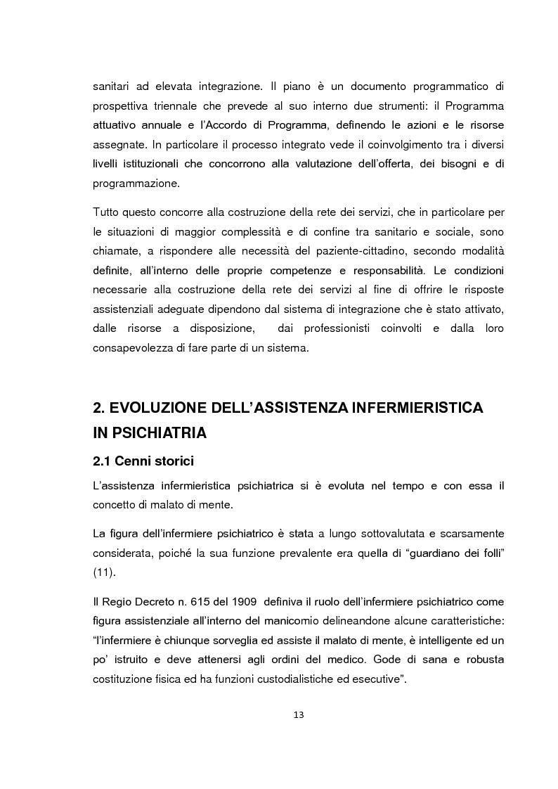 Anteprima della tesi: Implementazione della visita domiciliare come strumento di cura per il paziente psichiatrico, Pagina 8
