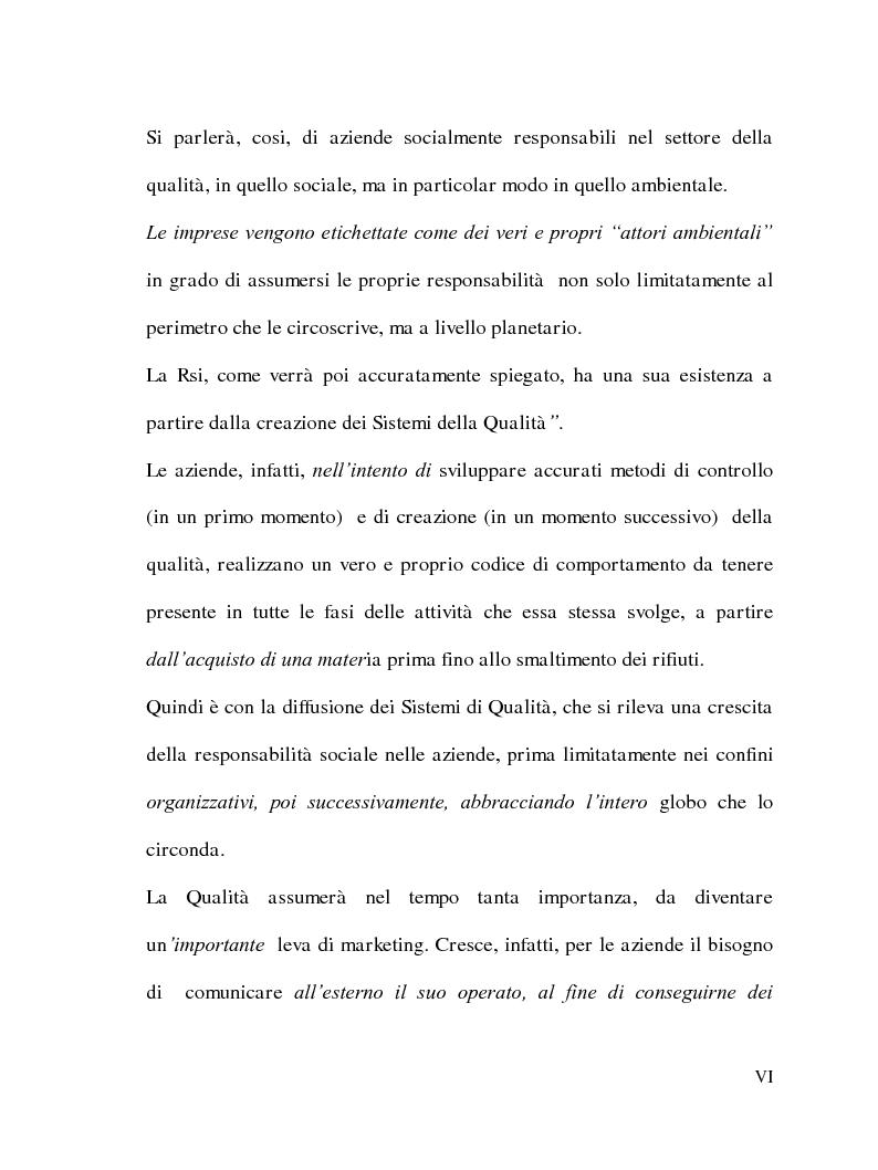 Anteprima della tesi: La Responsabilità sociale delle imprese e le certificazioni ambientali: Iso 14001, Pagina 5
