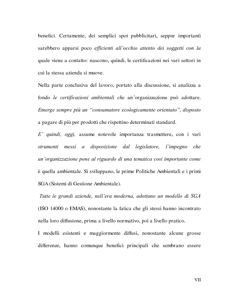 Anteprima della tesi: La Responsabilità sociale delle imprese e le certificazioni ambientali: Iso 14001, Pagina 6