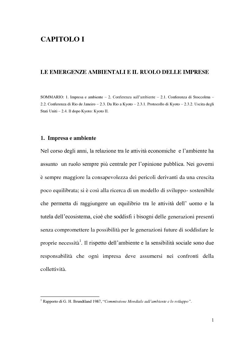 Anteprima della tesi: La Responsabilità sociale delle imprese e le certificazioni ambientali: Iso 14001, Pagina 8
