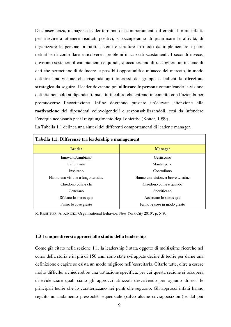 Anteprima della tesi: Leadership, cambiamento e cultura nelle organizzazioni: il caso SWG, Pagina 9