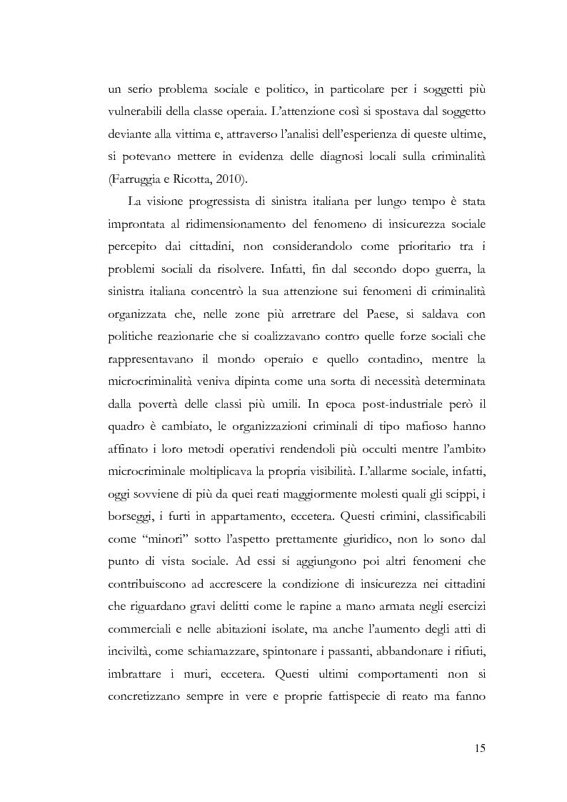 Anteprima della tesi: Benvenuti a Sezze Rumeno - Politiche di sicurezza e immigrazione nel comune di Sezze Romano, Pagina 11