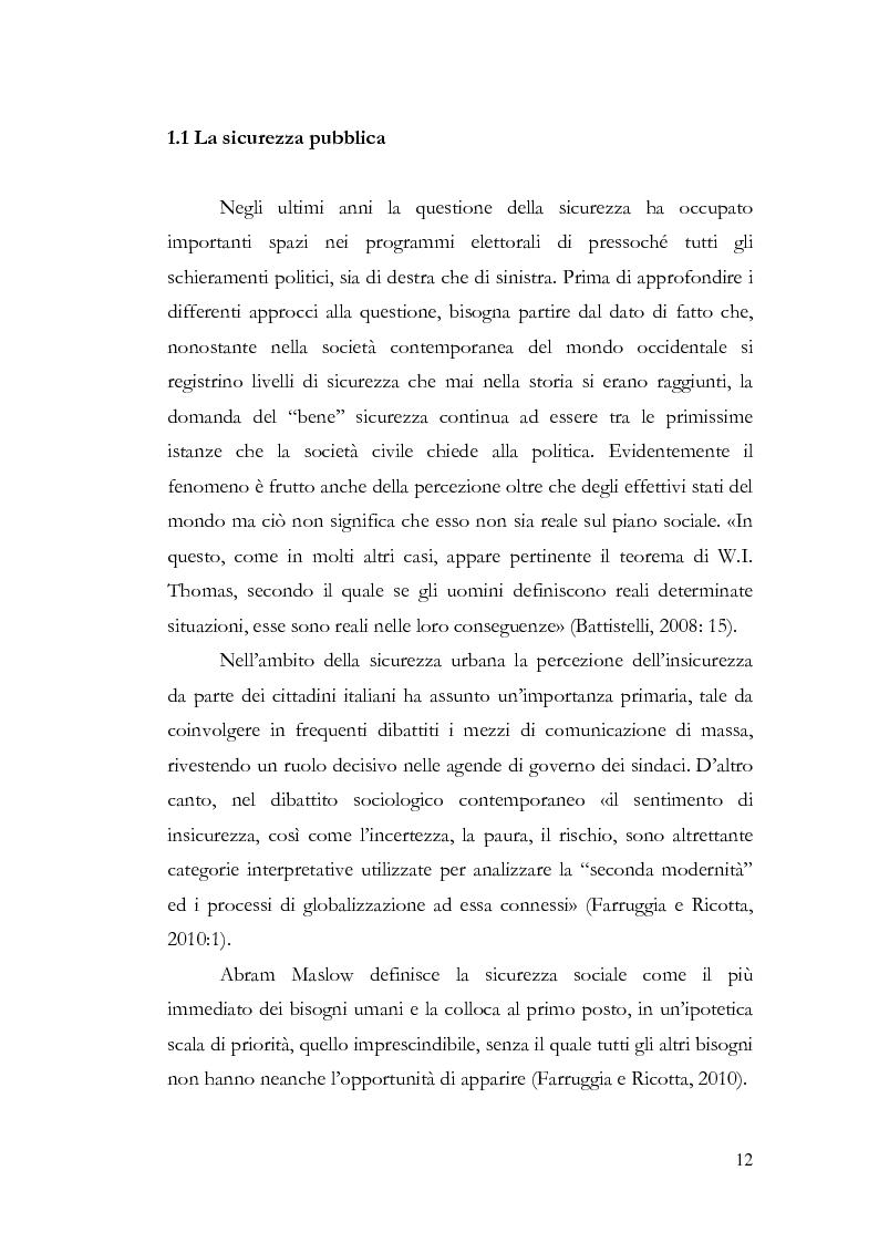 Anteprima della tesi: Benvenuti a Sezze Rumeno - Politiche di sicurezza e immigrazione nel comune di Sezze Romano, Pagina 8