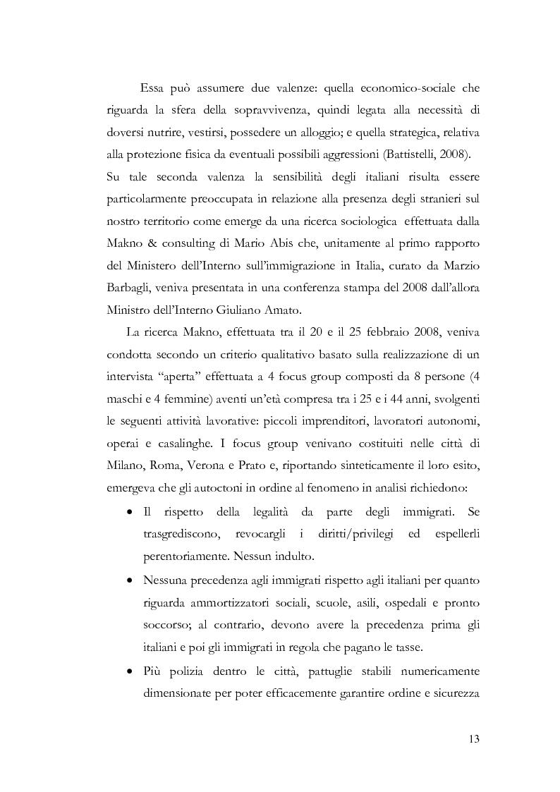 Anteprima della tesi: Benvenuti a Sezze Rumeno - Politiche di sicurezza e immigrazione nel comune di Sezze Romano, Pagina 9