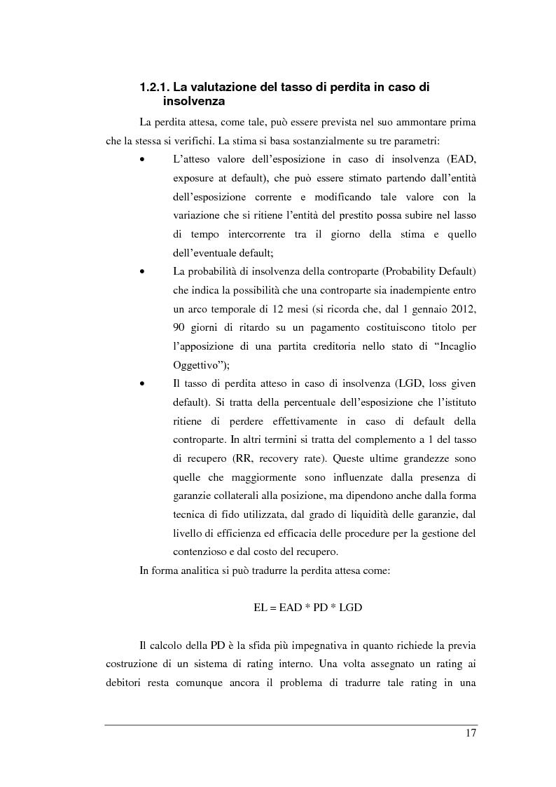 Anteprima della tesi: Rischio di Credito e Valutazione della PD nelle Cooperative Italiane, Pagina 10