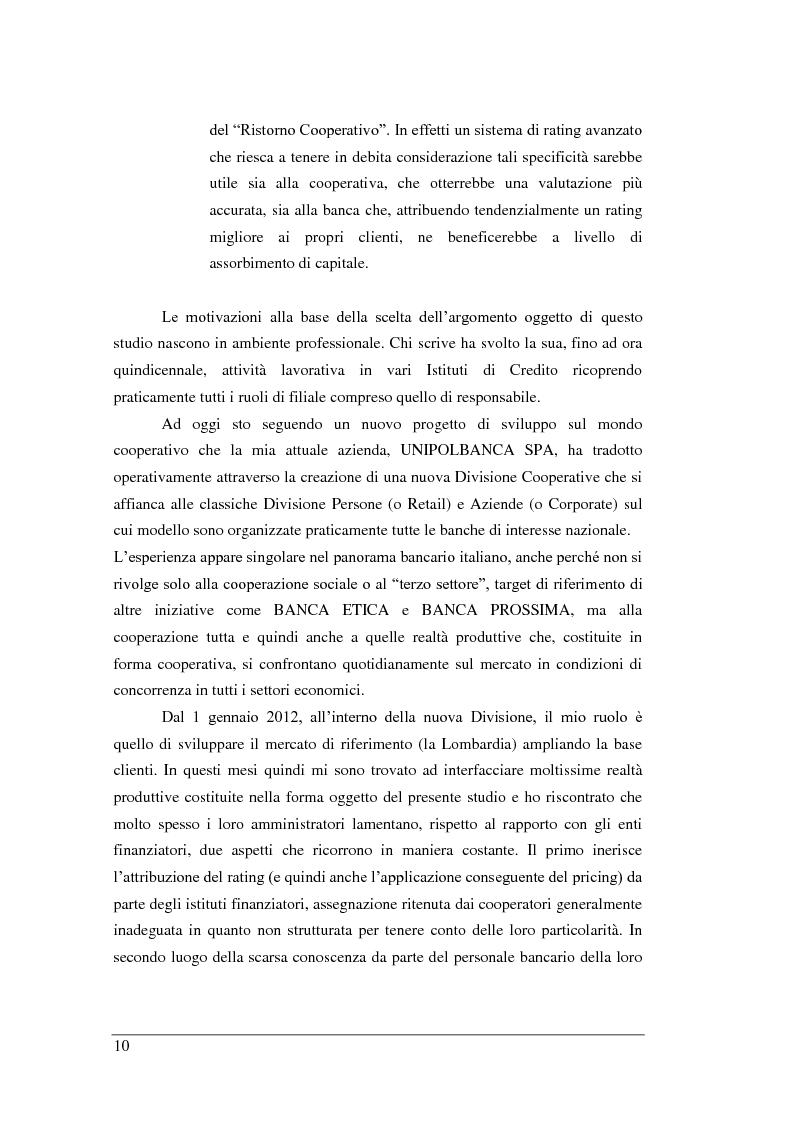 Anteprima della tesi: Rischio di Credito e Valutazione della PD nelle Cooperative Italiane, Pagina 3