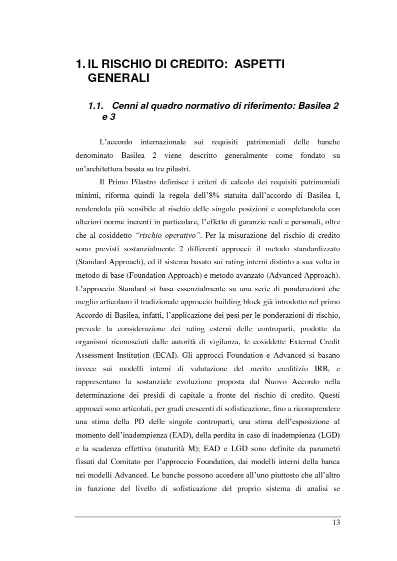Anteprima della tesi: Rischio di Credito e Valutazione della PD nelle Cooperative Italiane, Pagina 6