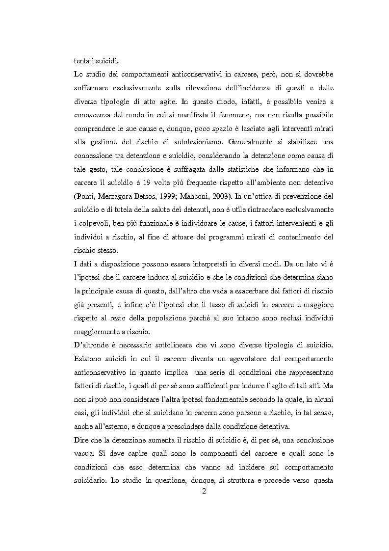 Anteprima della tesi: Vittimologia penitenziaria: uno studio esplorativo nella Casa Circondariale di Torino, Pagina 3