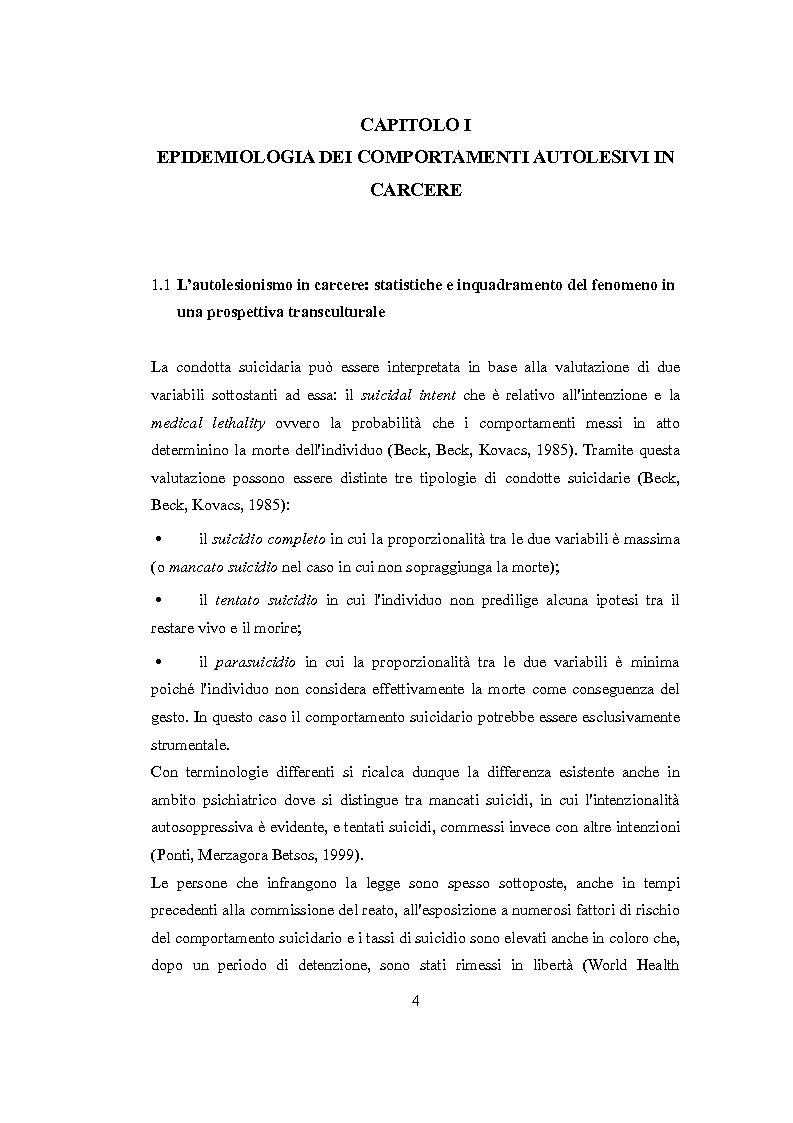 Anteprima della tesi: Vittimologia penitenziaria: uno studio esplorativo nella Casa Circondariale di Torino, Pagina 5