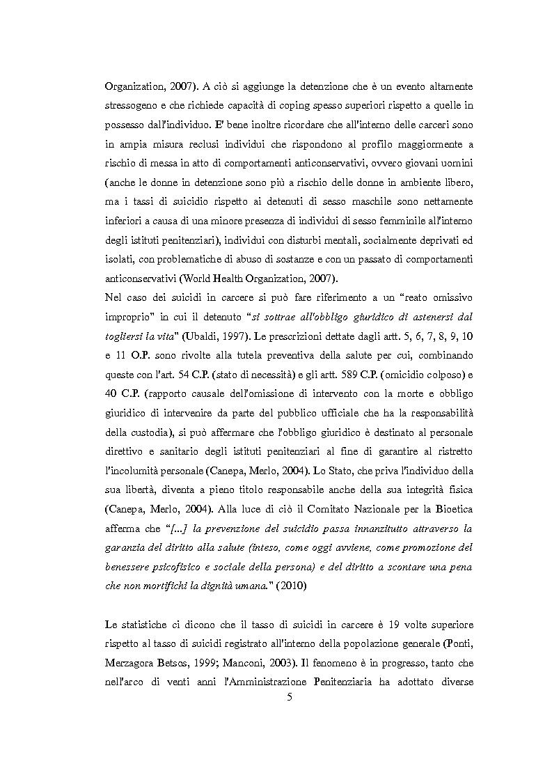 Anteprima della tesi: Vittimologia penitenziaria: uno studio esplorativo nella Casa Circondariale di Torino, Pagina 6