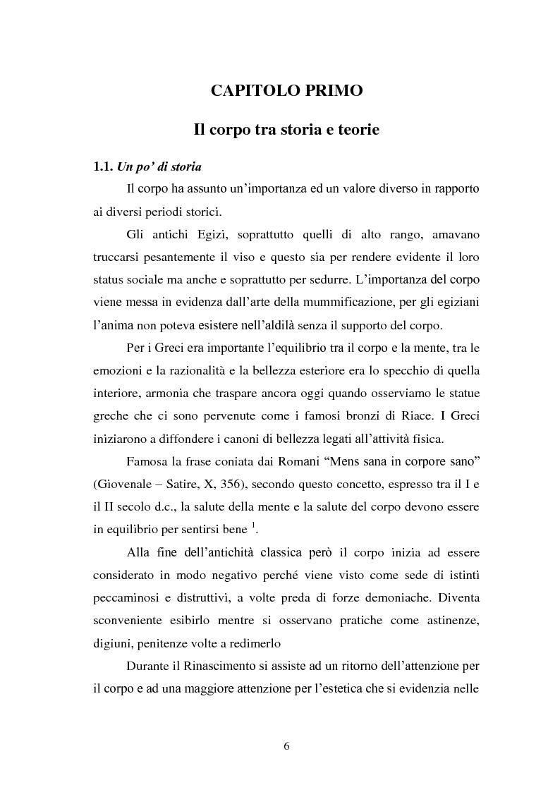Anteprima della tesi: Trattamenti estetici e bodybuilding - La dipendenza dall'immagine, Pagina 2