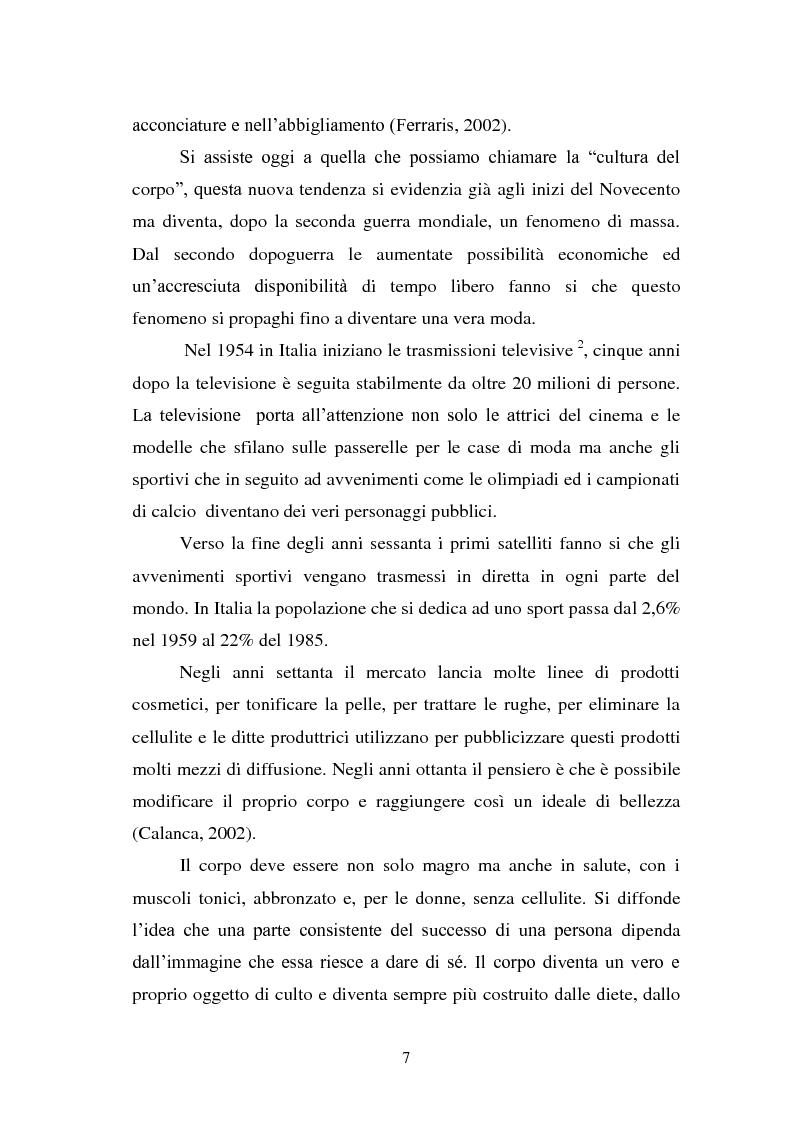 Anteprima della tesi: Trattamenti estetici e bodybuilding - La dipendenza dall'immagine, Pagina 3