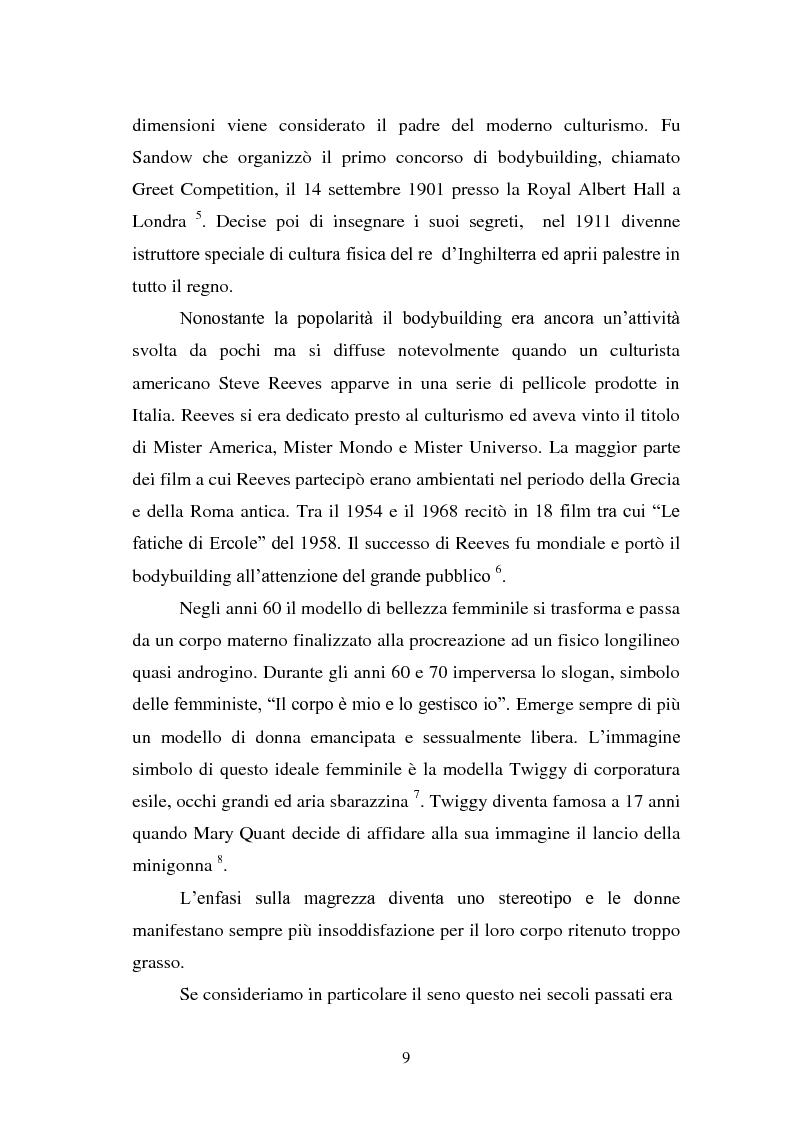 Anteprima della tesi: Trattamenti estetici e bodybuilding - La dipendenza dall'immagine, Pagina 5