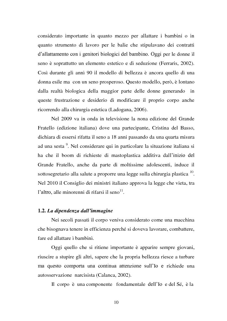 Anteprima della tesi: Trattamenti estetici e bodybuilding - La dipendenza dall'immagine, Pagina 6