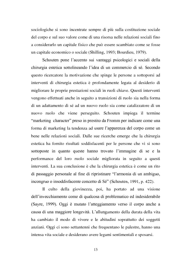 Anteprima della tesi: Trattamenti estetici e bodybuilding - La dipendenza dall'immagine, Pagina 9