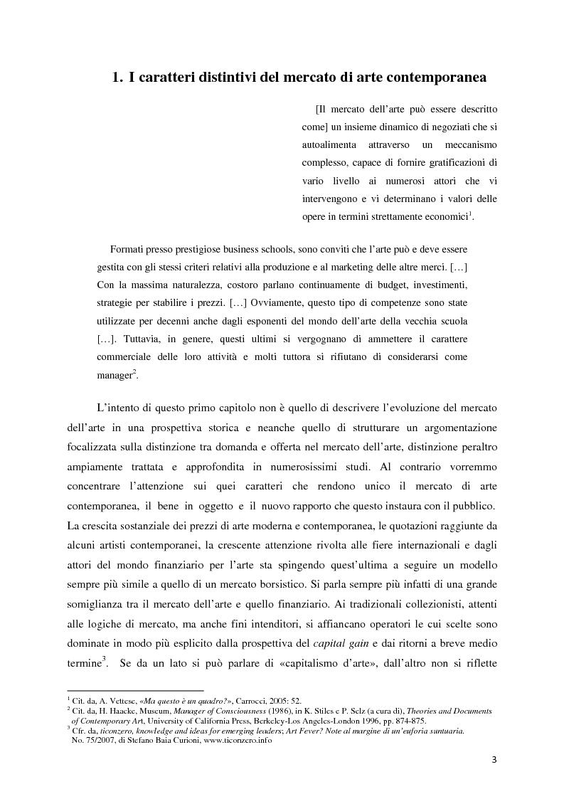 Anteprima della tesi: Il mercato dell'arte contemporanea: Europa vs USA, Pagina 4
