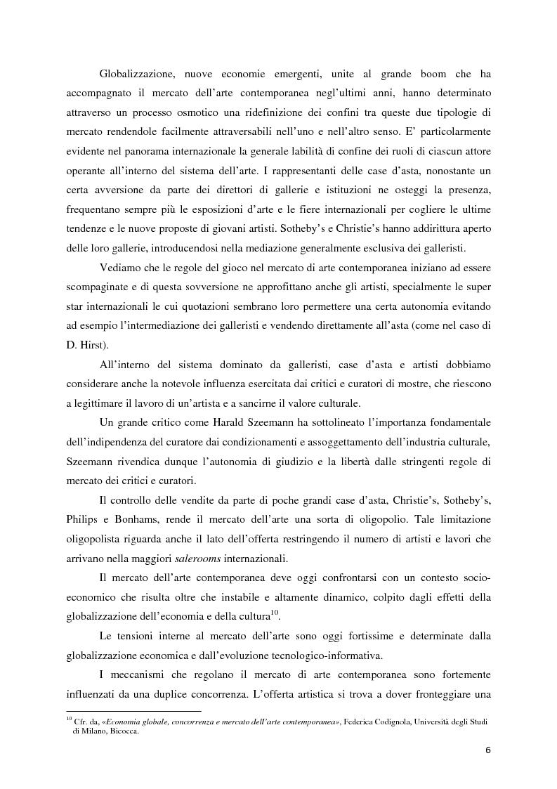 Anteprima della tesi: Il mercato dell'arte contemporanea: Europa vs USA, Pagina 7