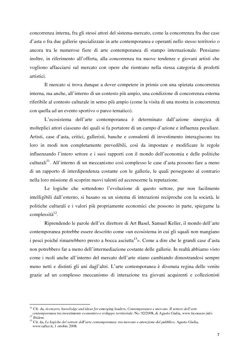 Anteprima della tesi: Il mercato dell'arte contemporanea: Europa vs USA, Pagina 8