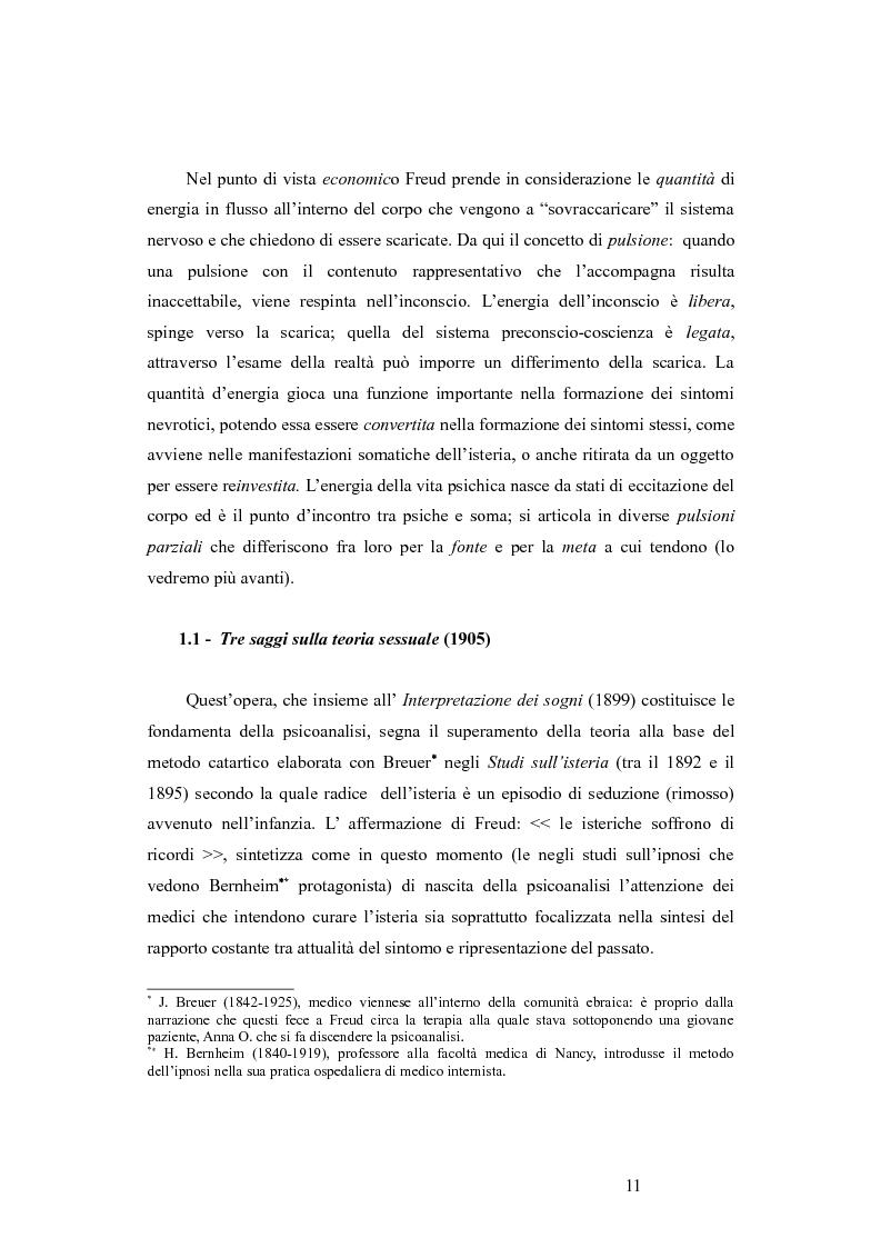 Anteprima della tesi: La revisione kleiniana e bioniana del modello pulsionale freudiano nel pensiero di Antonio Imbasciati, Pagina 10