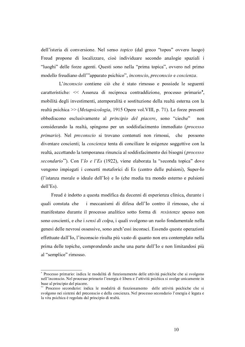 Anteprima della tesi: La revisione kleiniana e bioniana del modello pulsionale freudiano nel pensiero di Antonio Imbasciati, Pagina 9