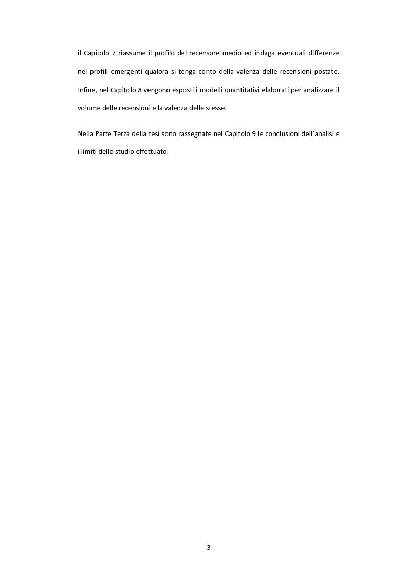 Anteprima della tesi: Il valore delle recensioni e del passaparola online: uno studio empirico nel settore alberghiero, Pagina 4