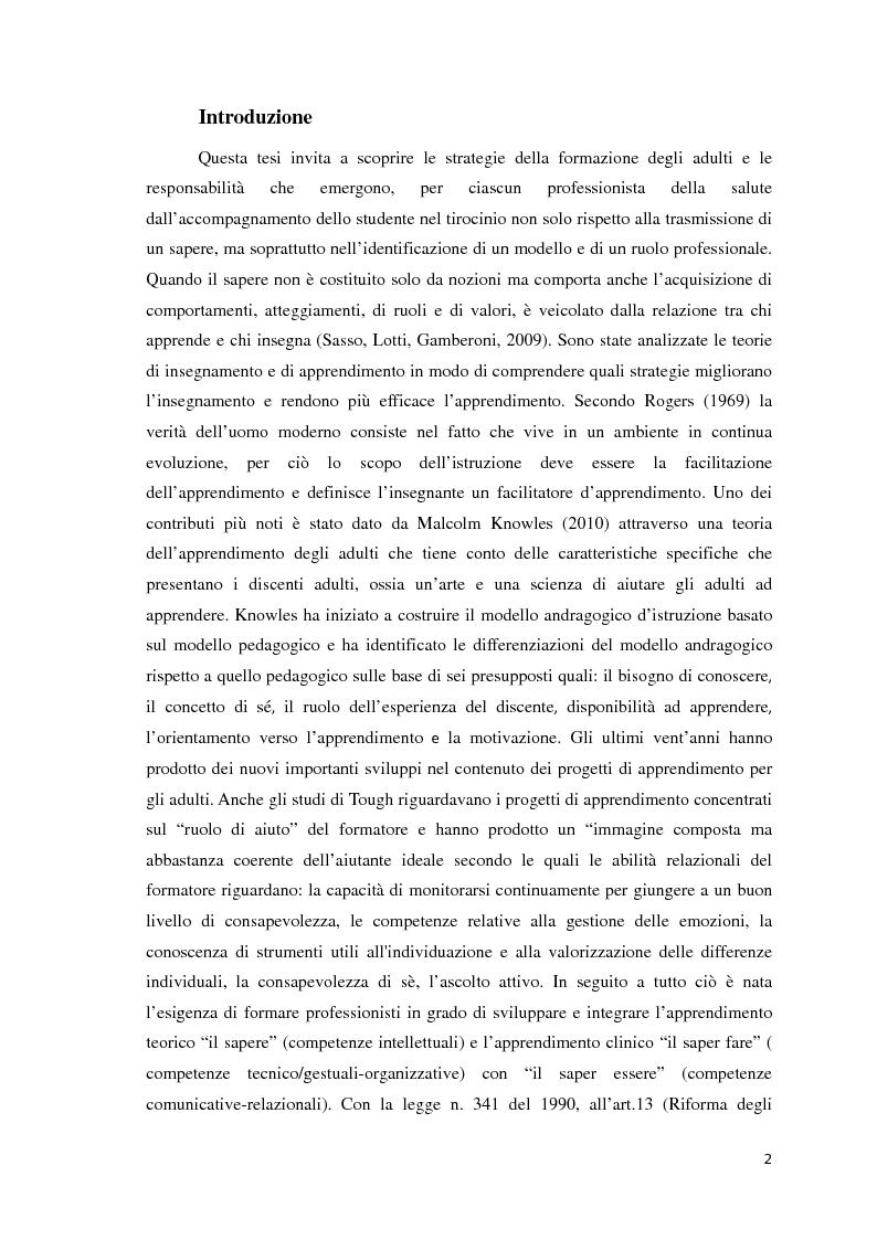 Anteprima della tesi: Strategie di formazione nel rapporto tutor-studente, Pagina 2