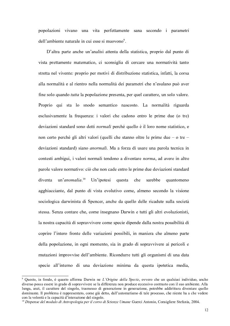 Anteprima della tesi: Il concetto di malattia nelle opere di Goldstein e Canghuilem, Pagina 11
