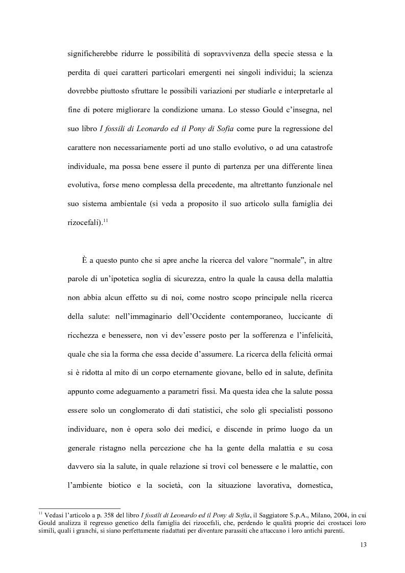 Anteprima della tesi: Il concetto di malattia nelle opere di Goldstein e Canghuilem, Pagina 12