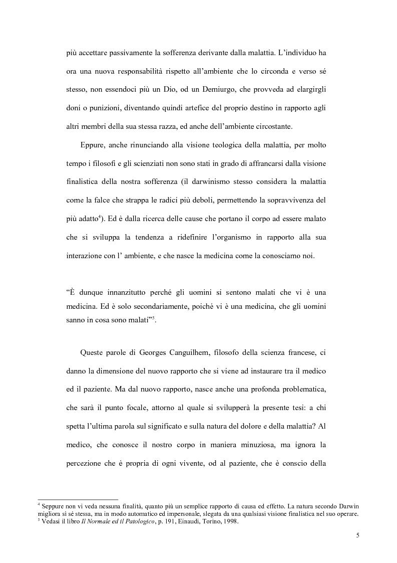 Anteprima della tesi: Il concetto di malattia nelle opere di Goldstein e Canghuilem, Pagina 4