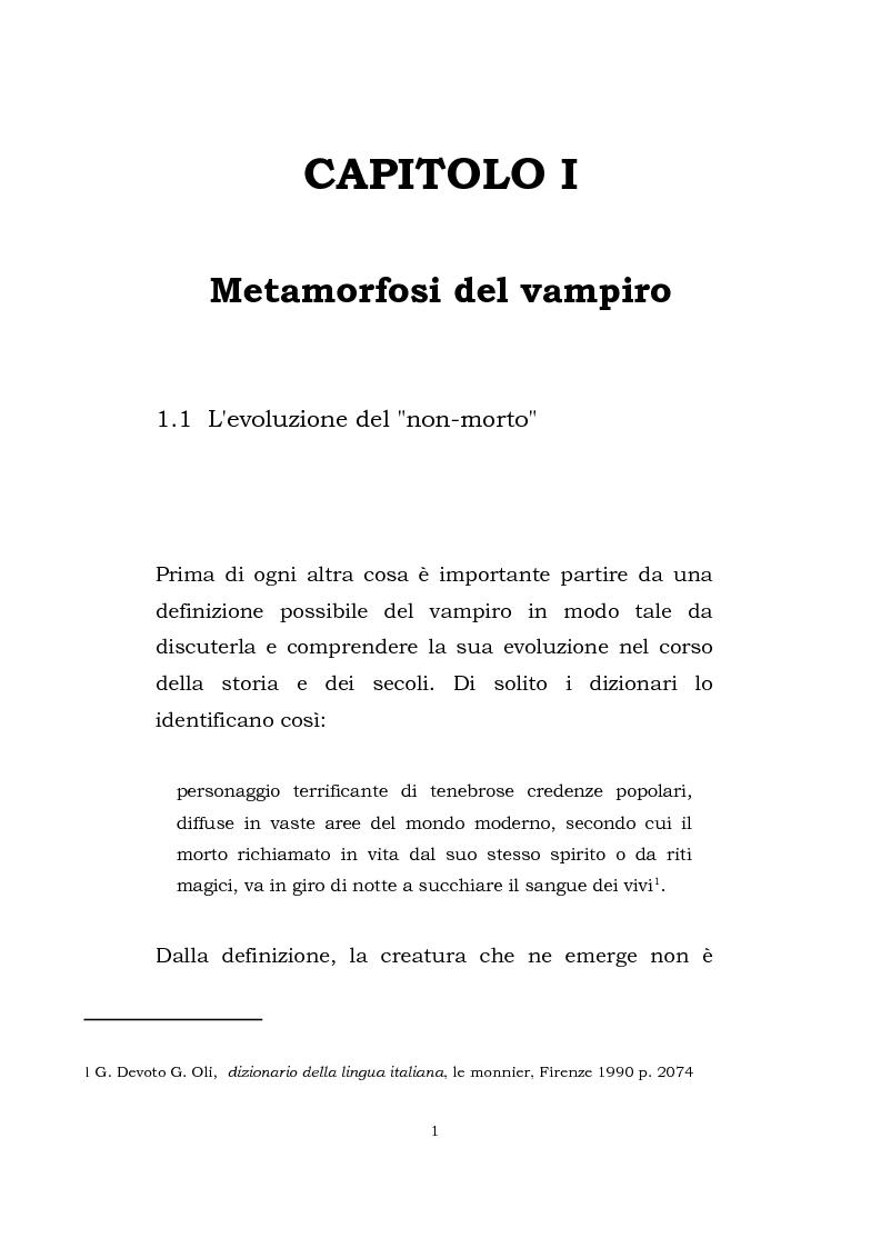 Anteprima della tesi: Vampire's legacy: percorso attraverso alcune rappresentazioni contemporanee del vampiro, Pagina 2