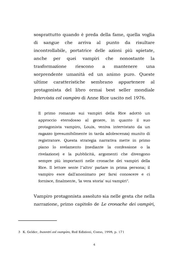 Anteprima della tesi: Vampire's legacy: percorso attraverso alcune rappresentazioni contemporanee del vampiro, Pagina 5