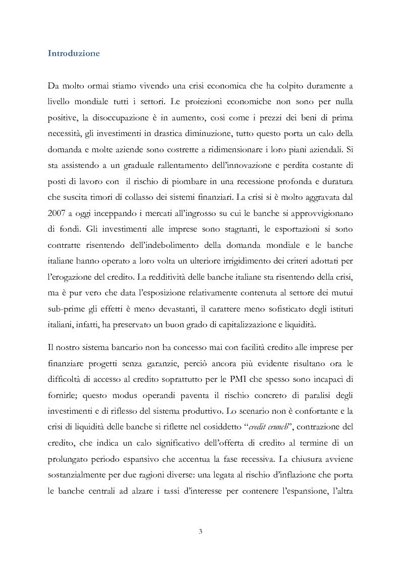 Anteprima della tesi: Credit crunch: come si manifesta l'irrazionalità nella gestione dei fenomeni di crisi, Pagina 2