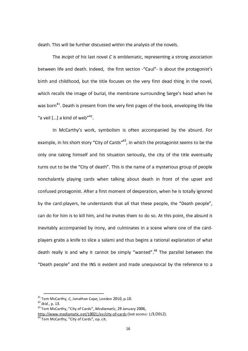 Anteprima della tesi: Tom McCarthy and the Secret of New Modern Fiction, Pagina 13
