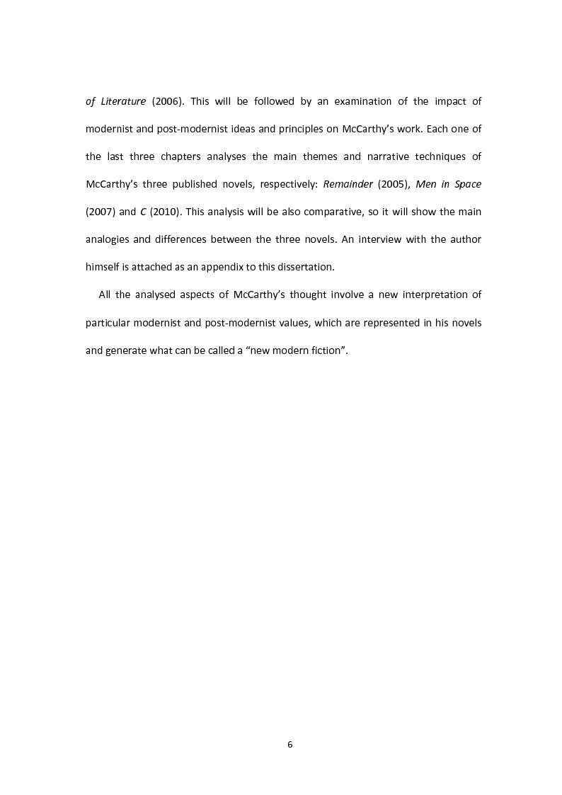 Anteprima della tesi: Tom McCarthy and the Secret of New Modern Fiction, Pagina 3