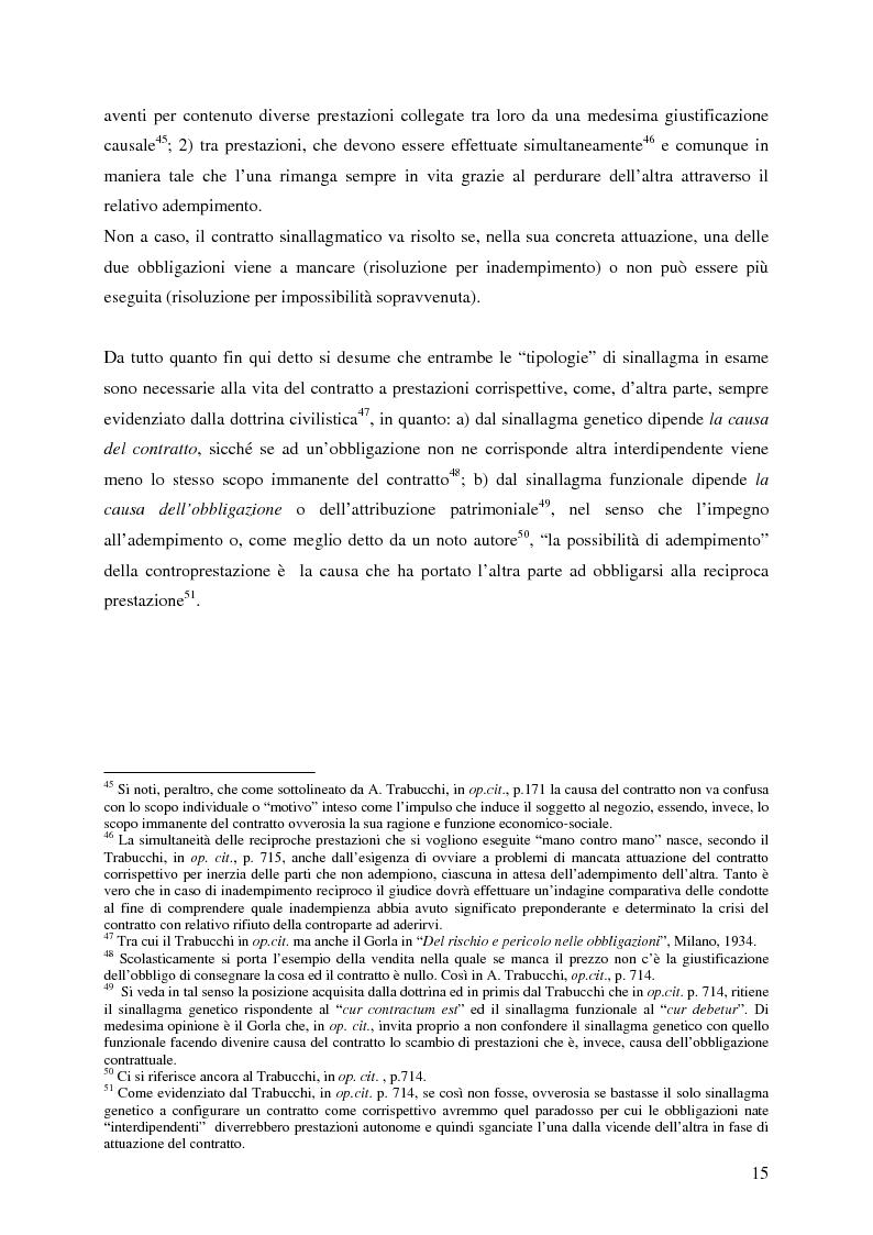 Anteprima della tesi: La corrispettività nelle vicende sospensive della prestazione di lavoro, Pagina 11