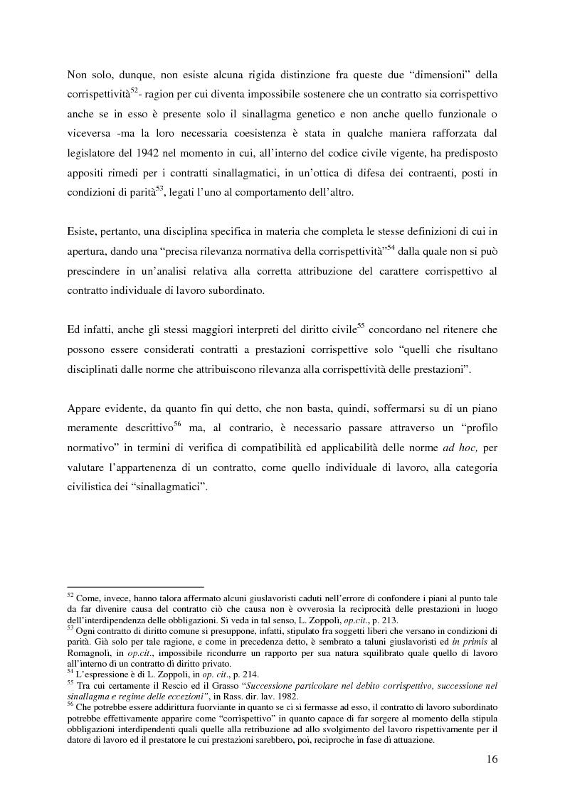 Anteprima della tesi: La corrispettività nelle vicende sospensive della prestazione di lavoro, Pagina 12